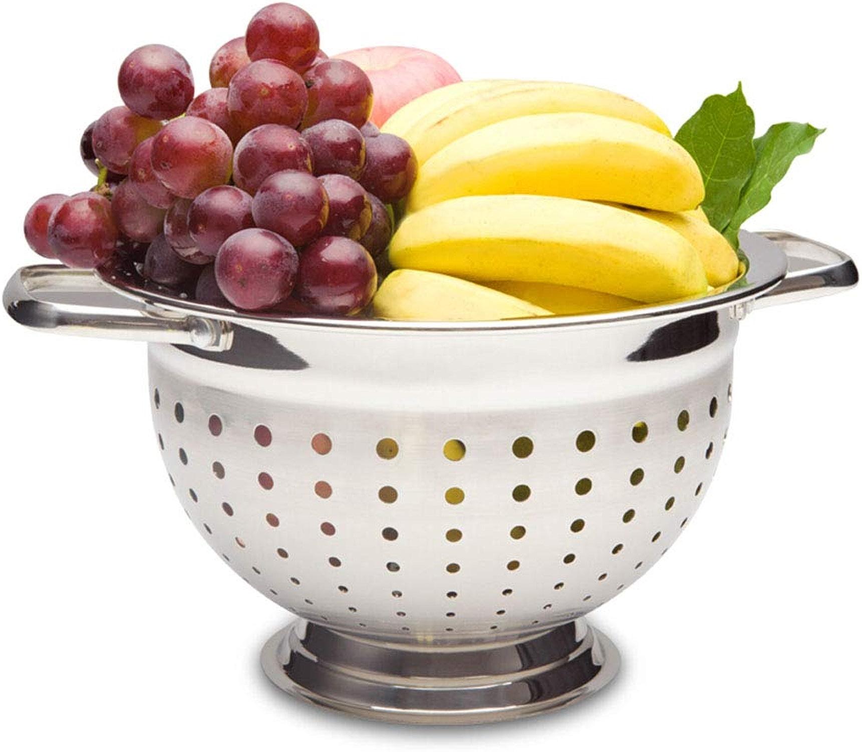 MWG Assiette de Fruits Multi-Fonctions antirouille Multi-usages Bassin INOX Bol à Fruits Bol Assiette de collation