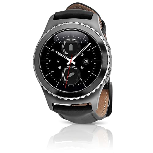 Samsung Gear S2 Classic Smartwatch 4G T-Mobile SM-R735T with Large Leather Band