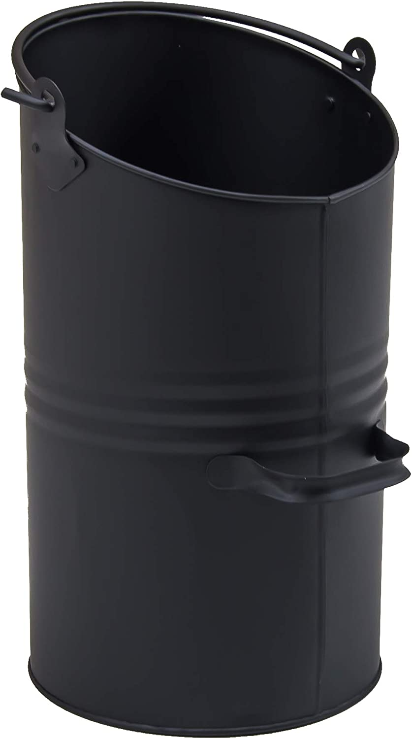 Fire Vida Coal Hod Fire Scuttle Bucket, Metal, Black