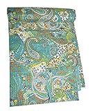 Tribal Asian Textiles Wendbare Tagesdecke mit Paisleymuster, Baumwolle, indisch, handgefertigt, Ethno-Stil
