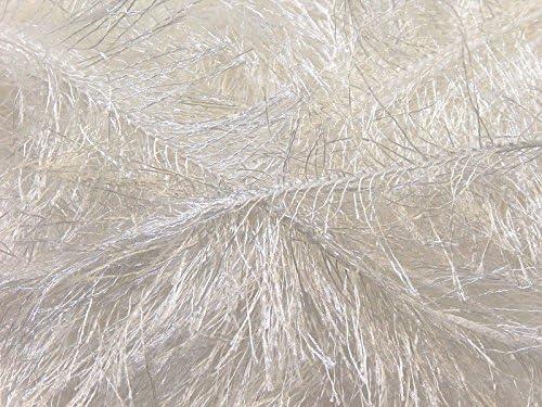 100 Gram White Eyelash Yarn Ice Fun Fur product image