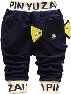 Hirolan Baby Strampler Kinderkleidung Mode Säugling Kleinkind Jungen Karikatur Elefant Drucken Hose Beiläufig Outfits 1T-4T Kinder Kleider