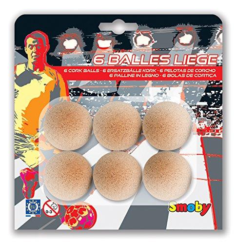 Smoby 140025 - 6 Korkbälle, 35 mm
