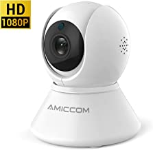 WiFi Camera, 1080p Home Security Camera FHD Pan/Tilt/Zoom Wi-Fi Indoor Smart Camera for Baby/Pet/Nanny with Motion Detection, Night Vision, 2-Way Audio, White(Only Support 2.4G)