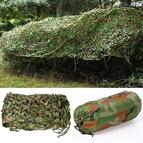 Popamazing 5 m x 1,5 m-Rete mimetica da caccia, in rete, motivo mimetico, colore: militare