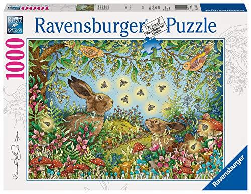 Ravensburger Puzzle 15172 - Nächtlicher Zauberwald - 1000 Teile Puzzle für Erwachsene und Kinder ab 14 Jahren, Puzzle mit Hasen
