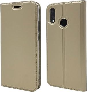 【マーサリンク】Huawei P20 SIM フリー版 5.8インチ用 高級PUレザー+TPU 手帳型 フリップ ケース 保護ケース スタンド機能 マグネット付 カード入れ付 カード収納 スキンPU (スペースグレイ、ネイビー、ゴールド、ピンクゴールド)4カラー選択 (ゴールド)