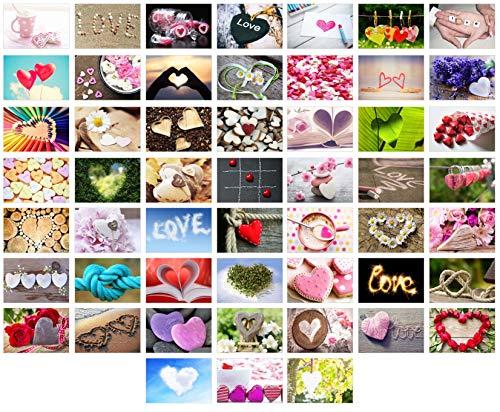 Edition Seidel Set 52 Premium Postkarten zur Hochzeit - Hochzeitsspiel: eine Postkarte jede Woche - Hochzeitsgeschenk - Liebe + Herzen – Dekoidee – Valentinstag - Gästebuch - Geburtstag