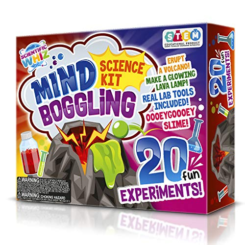 SCIENTIFIC WHIZ Science Set for Kids 20+ Science Experiments. Erupt a Volcano! & Make Lava Lamps and More.