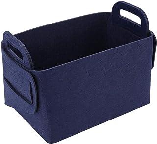 Miuoo フェルト製のランドリーバスケット洗濯物入れ おもちゃ箱 衣類の保管、子供のおもちゃの保管に使用されます 大容量ぬいぐるみ 収納、50x35x32CM