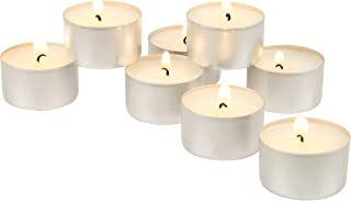 Stonebriar 100 Pack Unscented 8 Hour Extended Burn Time Tea Light Candles, white, 100 Count