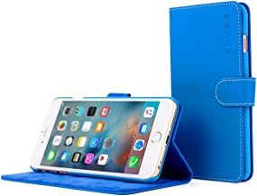 iPhone 6 Plus / 6s Plus Case, Snugg - Leather Wallet Cover Case with (Electric Blue) for Apple iPhone 6 Plus / 6s Plus
