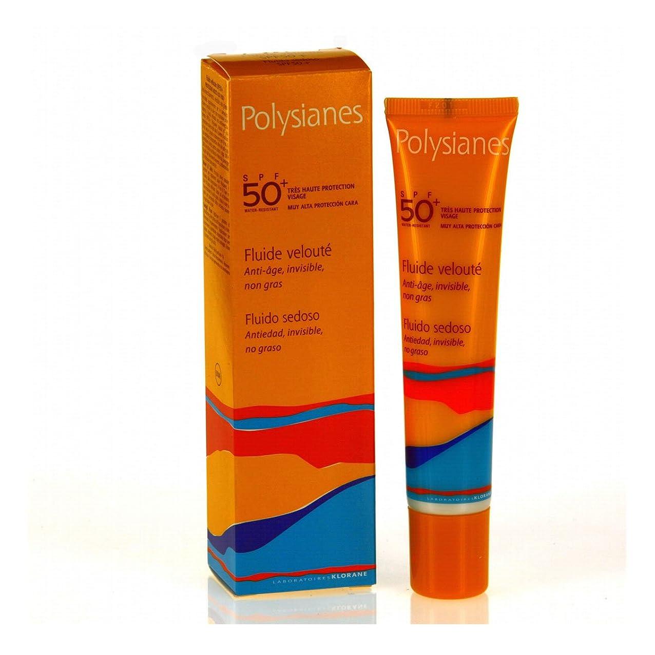 紳士気取りの、きざな用量巨大なPolysianes Velvety Fluid Spf 50+ 40ml [並行輸入品]