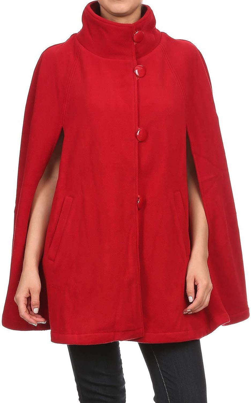 BYOS Women's Attention brand Winter favorite Stylish Oversized Poncho B Fleece Soft Plaid