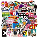 Cool Stickers Pack, Mixed Fun Vinyl Stickers Decals for Laptop Water Bottle Skateboard Refrigerator Guitar Computer Bulk Stickers for Boys Girls Adults 100Pcs (Graffiti)