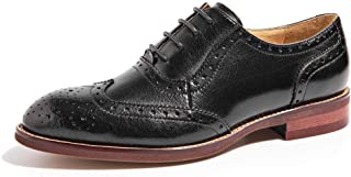 Beau Today Women's Lace Up Leather Oxfords Shoes Party Meeting Dress Shoes for Women