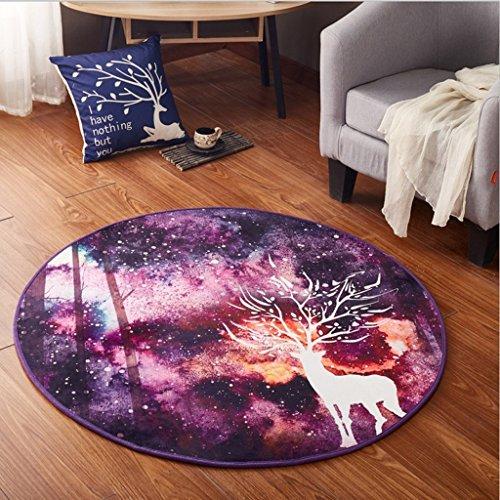 Good thing tapis Tapis rond Fawn Arbre Chaise d'ordinateur Pad panier Tapis Tente Tapis Couvertures de nuit étanche (taille : Diameter 100cm)