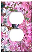 Switch Plate Outlet Cover - Flowers Plant Flower Nature Hummingbirds Garden