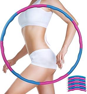 Homealexa Hoelahoep, hoelahoepel voor volwassenen en kinderen, 6-8-delige afneembare hoelahoep voor gewichtsverlies en mas...