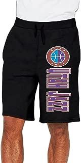 Men's Utah Jazz Logo Cotton Short Pajama Pants Black US Size XL
