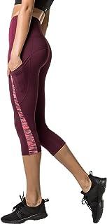 LAPASA Women's Yoga Capri Pants Anti-Muffin Top High Waist Hidden Pocket Running Yoga Pants L37 L38