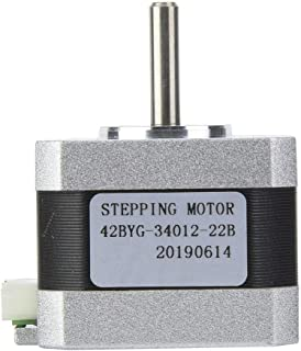Stepper Motor, Nema 17 Bipolar Stepper Motor DC4.0V 1.2A 320mNm / 45oz.in with Connection Cable for 3D Printer, 34mm Height