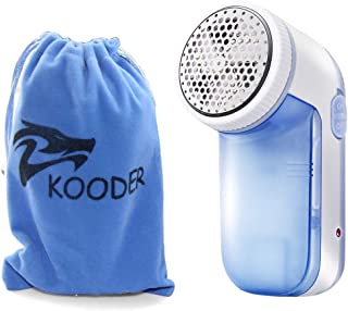 KOODER Rechargeable Sweater Shaver,Fabric Shaver, Lint Remover. Easy to Carry.Suitable to Use on Pilling Surfaces, Such As Sweater, Coat, Glove, Scarf,and Much More! (Blue)