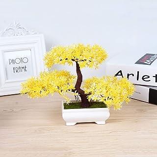 Wghz Cedro Bonsai Artificial Bonsai emulado de Pino Acogedor Plantas de Maceta Simulación de Flores Artificiales Decorat...
