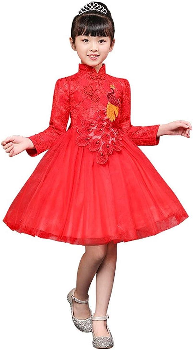 SKY-ST Girls Chinese Ranking TOP11 Cheongsam Tutu Max 85% OFF Retro Dresses Embroidery Pri