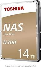 Toshiba N300 14TB NAS Internal Hard Drive 7200 RPM SATA 6Gb/s 256 MB Cache 3.5inch - HDWG21EXZSTA