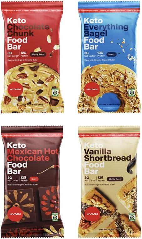 H.V.M.N. Keto Superior Food Bar - Variety Pack Gluten 1 Bars Free Boston Mall