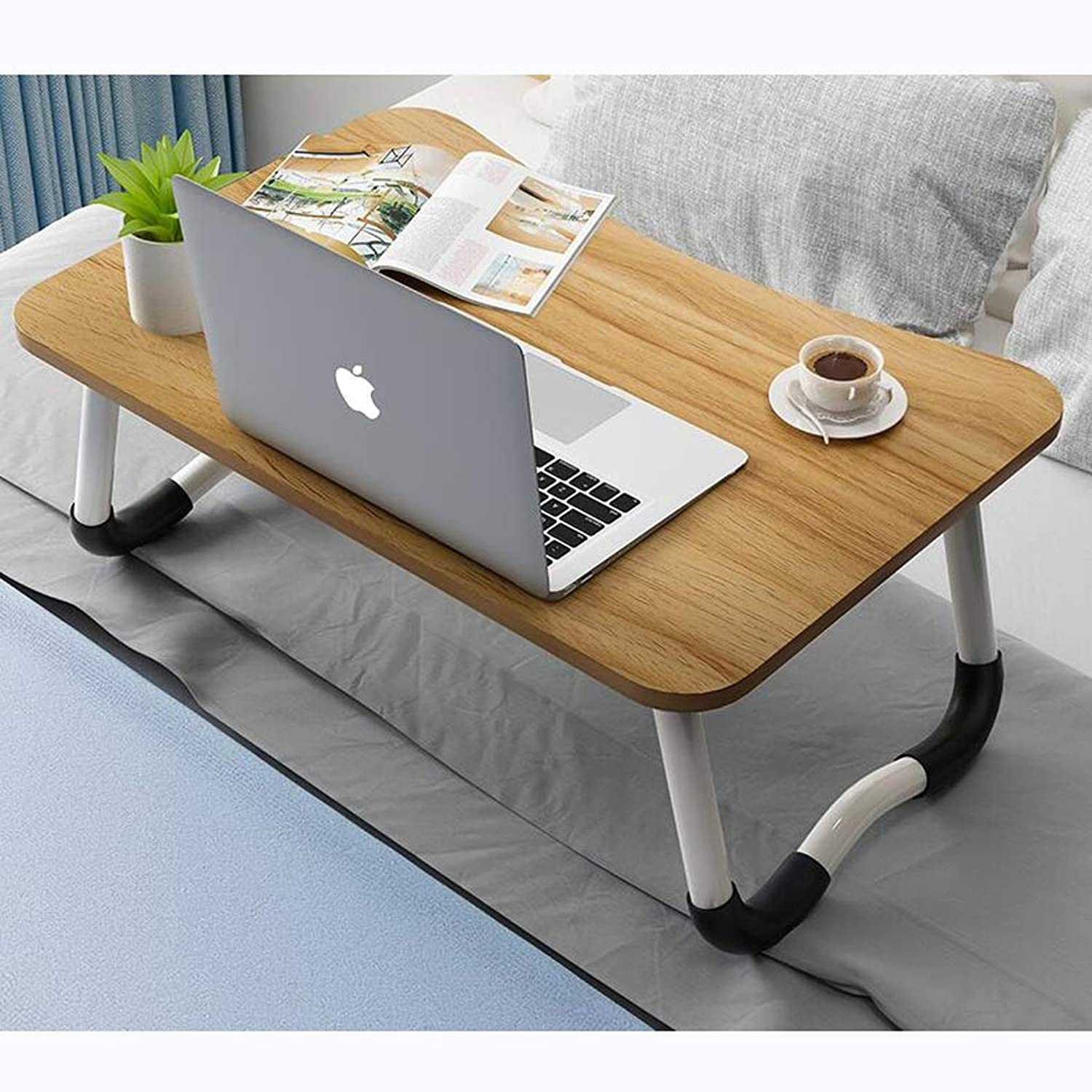JSFQ Folding Table Laptop Table Bed Foldable Table Bed Desk Lazy Table Folding Table (color   E)
