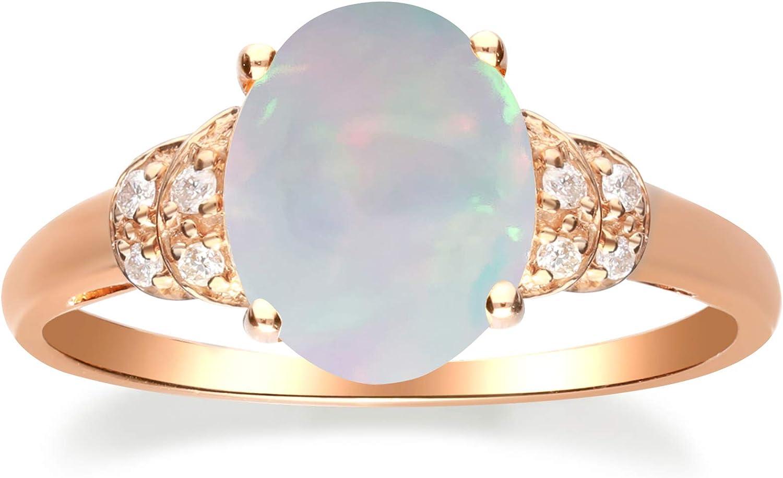 Gin Grace 10K Rose 日本 Gold 卸直営 Natural I2 I1 Opal Diamond Australian