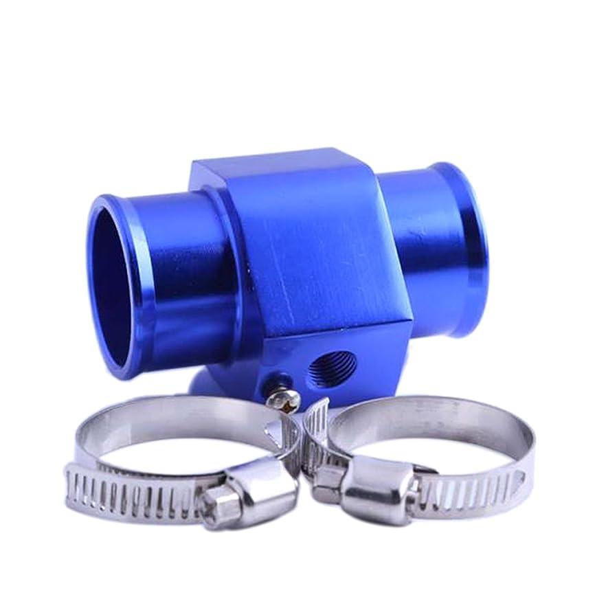 コーヒー与える抑圧gazechimp 30mm 合金製 水温ジョイントパイプ センサー ゲージ ホースアダプタ ブルー