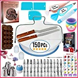 150 PCs Cake Decorating Supplies Kit for Beginners-1 Turntable...