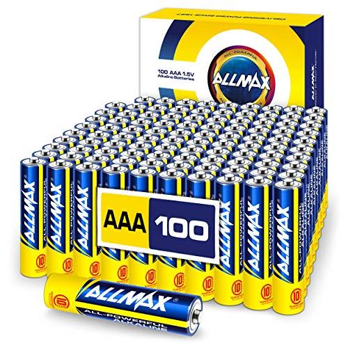 ALLMAX All-Powerful Alkaline Batteries - AAA (100-Pack) - Premium Grade, Ultra Long-Lasting and Leak...