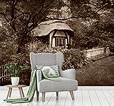 Vliestapete Poster Fototapete Cottage englischer Garten...