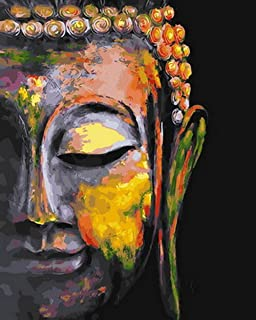 """DIY Oil Painting""""Colorful Buddha""""Paint by Number Kit for Kids Adults Students Beginner Creative Home Handmade Canvas Decor..."""