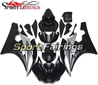 Sportbikefairings Injection Plastic ABS Fairings For Yamaha YZF R6 2006 2007 Year 06 07 Motorcycle Fittings Silver Black Body Kits