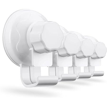 フック 湯おけ ホルダー 洗い桶掛け 強力 吸盤 粘着フック 壁傷つけない 痕跡が残らず お風呂 キッチン ホワイト 生活雑貨 調理器具 4個セット