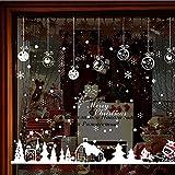 Gwgdjk Vendita Calda Cabin Snowflake Wall Stickerrs Buon Natale Decorazione Decalcomania Finestra Stickerr Home Room Decor Per Negozio Cafe Porte Decor