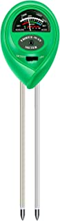 Atree Soil pH Meter, 3-in-1 Soil Tester Kits with Moisture,Light and PH Test for Garden, Farm, Lawn, Indoor & Outdoor (No ...