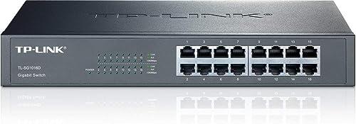 TP-Link 16-Port Gigabit Ethernet Unmanaged Desktop/Rackmount Switch (TL-SG1016D)