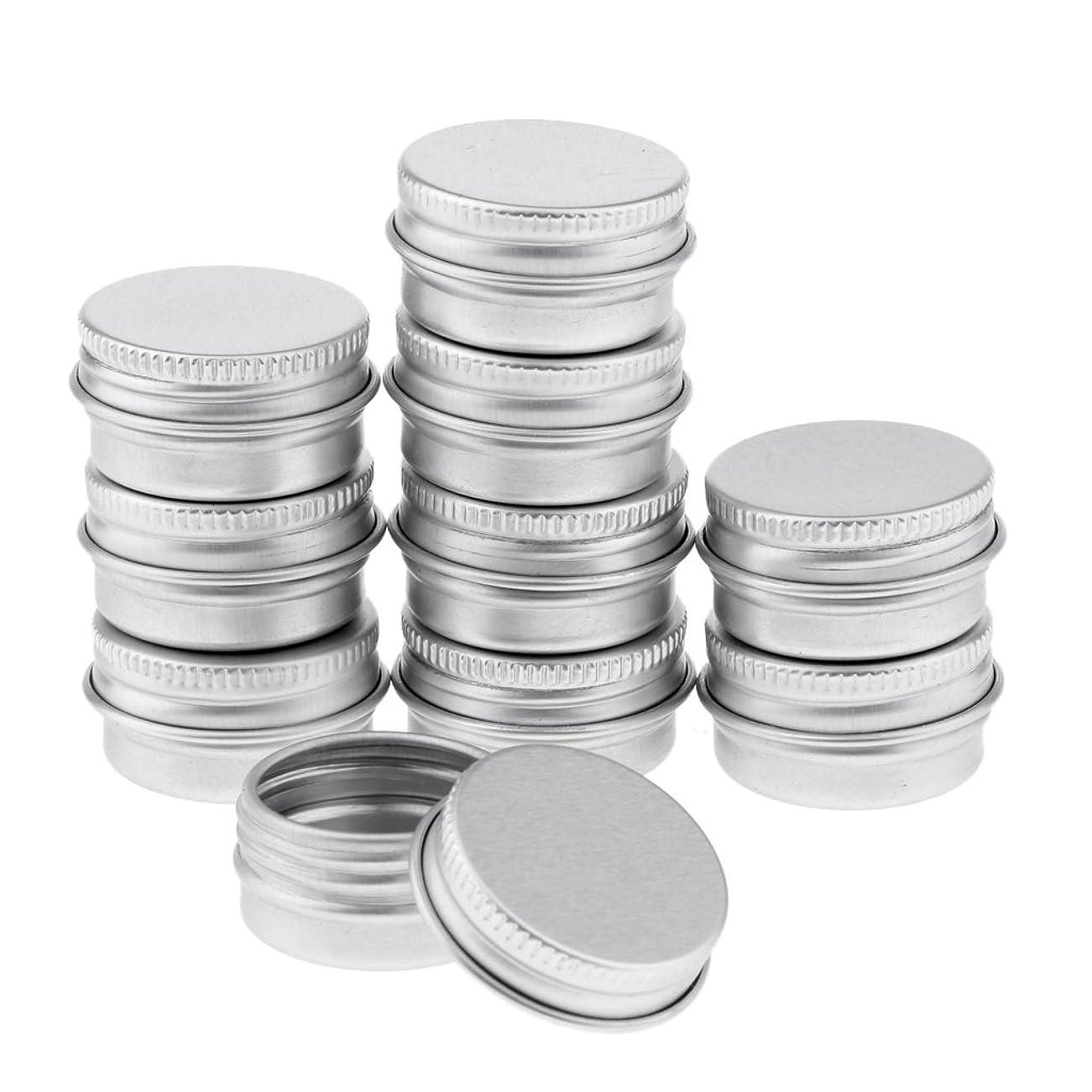 支出セットする傭兵Blesiya 10個 アルミ製 コスメ 詰替え 容器 空缶 スクリュー蓋付き 容器 ジャー トップラウンド 約5g