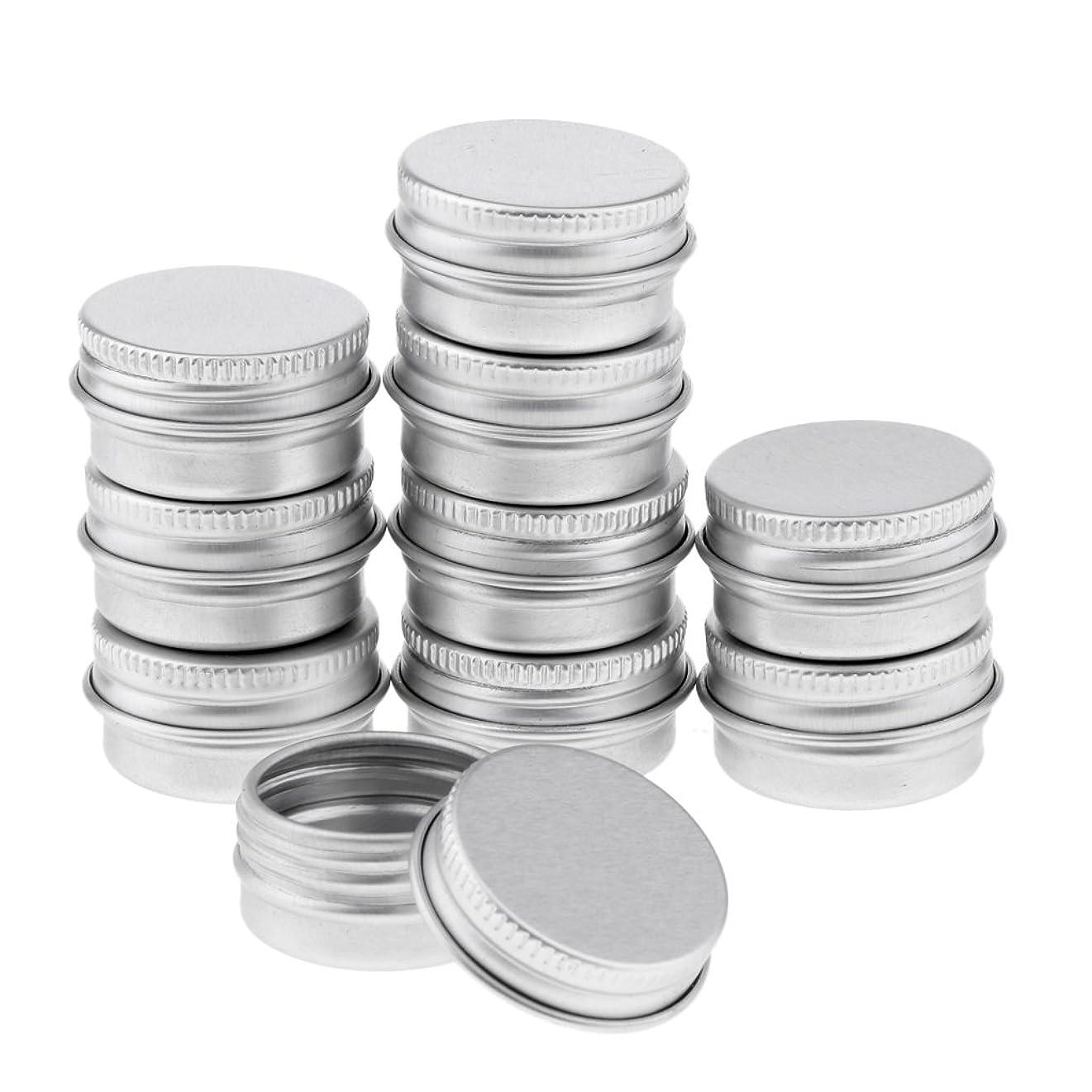野心高価な手Blesiya 10個 アルミ製 コスメ 詰替え 容器 空缶 スクリュー蓋付き 容器 ジャー トップラウンド 約5g
