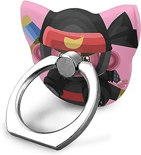電話ハンドヘルドスタンド忍者としての猿はiPad、ハンドヘルドX / 6 / 6s / 7/8/8 Plus / 7、Galaxy S9 / S9 Plusの調整可能な360°回転環状スタンド、パソコンスタン ド、指輪スタンド、パソコンスタンド/ S8 / S7、Androidスマートフォン