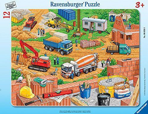 Ravensburger -Work at The Construction Site - Jigsaw Puzzle for Kids – Every Piece is Unique, Pieces Fit Together Perfectly