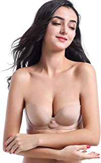 CapsA Silicone Invisible Strapless Backless Bra Breathable Push Up Self-Adhesive Gel Stick on