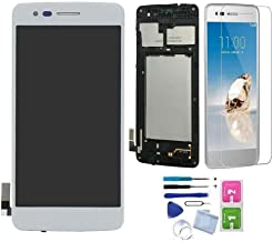 XR MARKET Compatible LG K8 2017 Screen Replacement, LG Aristo LCD Display Touch Digitizer Assembly, for M210 M200N MS210 + Tools + Screen Protector (Silver W/Frame)
