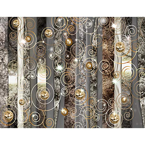 Fototapete 3D Abstrakt Diamant 352 x 250 cm Vlies Tapeten Wandtapete XXL Moderne Wanddeko Wohnzimmer Schlafzimmer Büro Flur Braun 9372011a